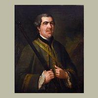 Oil Portrait Painting, 1758 Hunter Portrait, Oil on Canvas, Georges de Roose