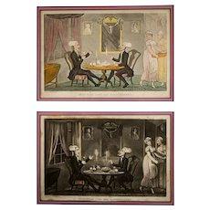 Rowlandson Print, Original Aquatint Print Doctor Syntax,  Thomas Rowlandson