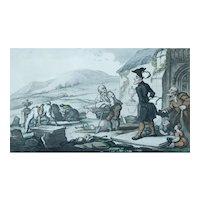 1820 Framed Print, Thomas Rowlandson, Hand-Coloured Engraving