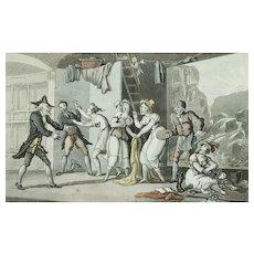 Original Aquatint Doctor Syntax Print by Thomas Rowlandson, 1812