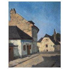 Original Oil Painting, Vienna Beethoven House Painting, Robert Skala (1874-1945)