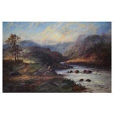 19th Century Oil Painting, Scottish Landscape, British Artist Georgina Lara