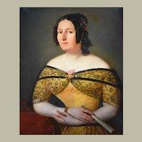 Woman Portrait Oil Painting,  Attrib. to Peter Michal Bohúň (1822-1879)