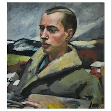 Original Oil Painting, Portrait of a French Painter, Lucien Weil (1902-1963)