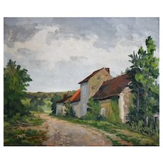 Oil Painting Landscape, Vintage French Painting, Jean Joly (1900-1952)