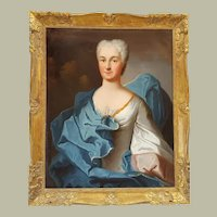 Charles Baziray - Portrait of the Countess of Flers - 1734