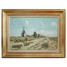 1860s Landscape Painting, Vuillemot, French School, Landscape Oil Painting