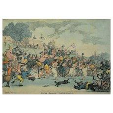 Thomas Rowlandson, Original Funny Scene Coloured Print, 1811