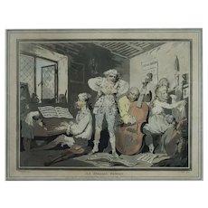 Thomas Rowlandson, 18th Century Etching, Original Satirical Print, 1785