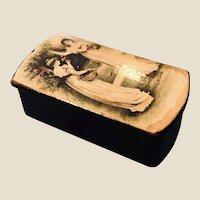 Victorian French Paper Mache Snuff Box