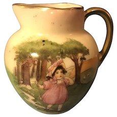 Precious Antique Royal Bayreuth Little Bo Beep Child's Creamer Milk Jug