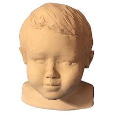 Fabulous MCM Original Sculpture Young Boy's Bust New England Artist