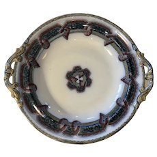 19th Century Victorian Ironstone Tazza Compote Egyptian Pattern Serving Dish