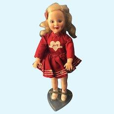 Vintage Mary Hartline Hard Plastic Doll 50s TV Star