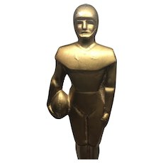 Fabulous Antique Art Deco Football Player Trophy Award Sculpture Figure