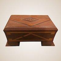Wonderful New England Hand Made Folk Art Jewelry Box