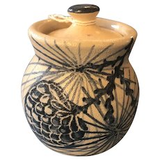 Vintage Dorchester Pottery Pinecone Covered Sugar Jam Jar