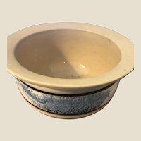 Fabulous Antique Seaweed  Decorated Yellowware Chamber Pot