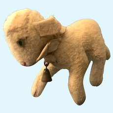 """Precious Steiff Lamby Smallest Lamb Size 4.5"""" Button"""