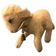 """Precious Steiff Lamby Smallest Size 4.5"""" Button"""