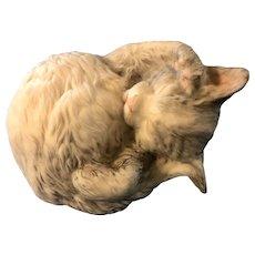 Sweetest Cybis Sleeping Cat Bisque Figure Tabitha