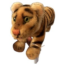 """Early Vintage Steiff Bengal Jumping Tiger 12"""""""