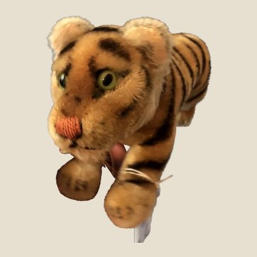 Early Vintage Steiff Bengal Jumping Tiger 12""