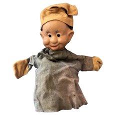 Vintage 1940s Original Walt Disney Dopey the Dwarf Puppet Composition