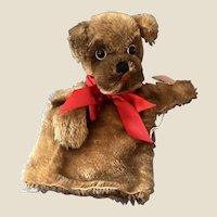 Vintage Steiff Mopsy Dog Puppet IDs