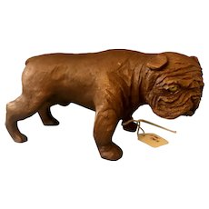 Vintage Composition Make Bulldog Figure