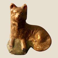 Fabulous Pennsylvania Antique Chalkware Dog Figure 19th c