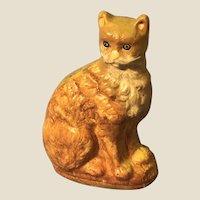 Rare Vaillancourt Tabby Cat Folk Art Figure Tabby
