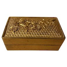 Vintage Chinese Foochow Shin Shaoan Saeukee Gold Lacquer Box