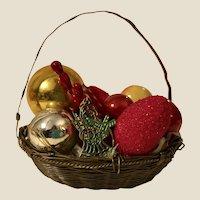 Antique German Copper Wire Xmas Tree Basket