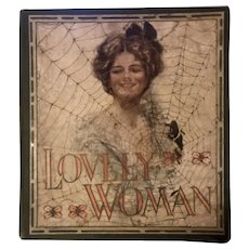 "Antique Book ""Lovely Woman"" 1910 Famous Illustrators Oversized"