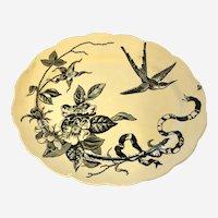 Antique Victorian Aesthetic Period Platter Kensington PB&S 1870 English Porcelain