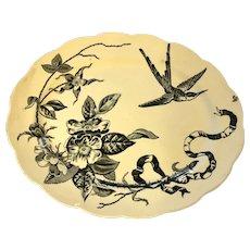 Antique Victorian Aesthetic Period Platter Kensington PB&S 1870d