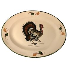Fabulous HTF Blue Ridge Pottery Thanksgiving Turkey Platteraa a