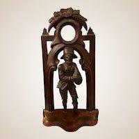 Antique Black Forest German Pocket Watch Display Stand