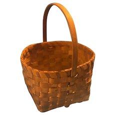 Antique Miniature Splint Woven Berry Basket New England