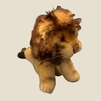 Sweetest Vintage Steiff Small Sitting Lion 0820/12 Mohair Toy