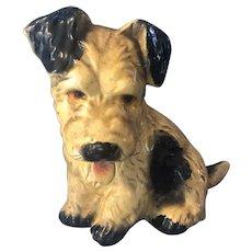 Vintage 1930s Chalk Skye Cairn Terrier Puppy Figure