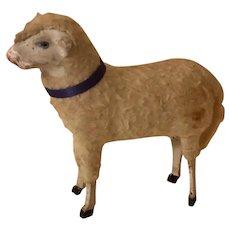 Antique German Putz Large Wooly Lamb Sheep