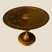 Antique Turn of the Century Fancy Brass Tazza or Calling Card Tray