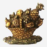 Rare Hubley Fruit Basket Doorstop #78 Rare Huge 13 Pounds