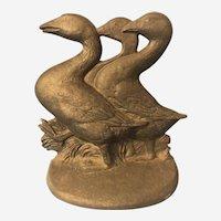 Hubley 3 Geese Doorstop #457 Fred Everett