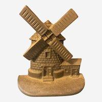 National Foundry Cast Iron Windmill Doorstop New England Cape Cod Symbol