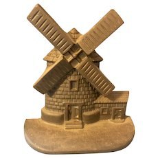 National Foundry Cast Iron Windmill Doorstop New England Cape Cod Symbol
