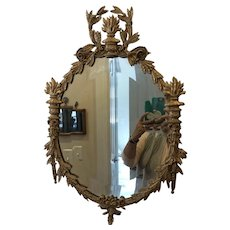 Antique French Revival Ornate Gilded Gesso Wall Mirror