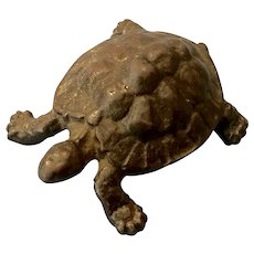 Antique Patinated Japanese Bronze Turtle Figure Sculpture